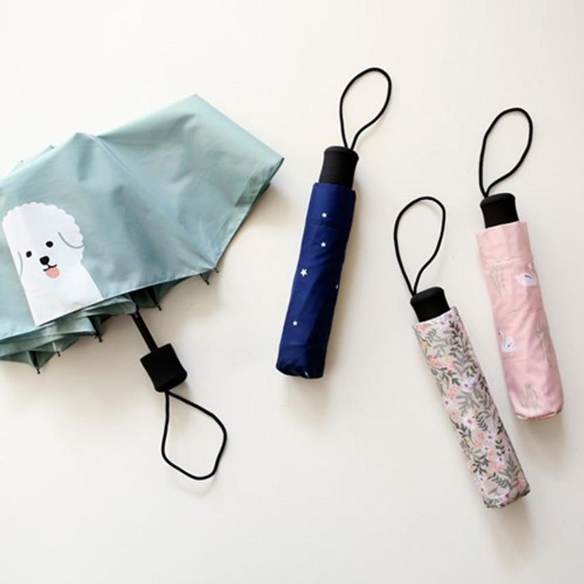 Enjoy your life foldable pattern umbrella