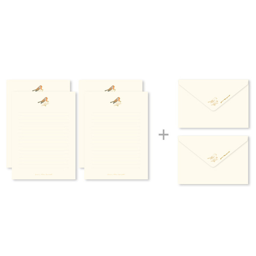 Composition of From the forest letter paper and envelope set
