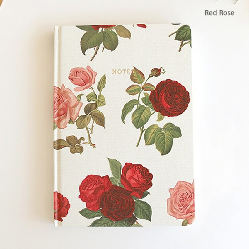 Red rose - Florence A5 hardcover lined notebook