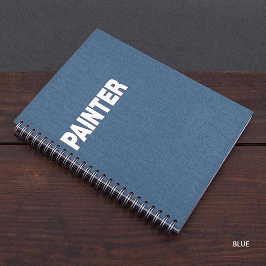 Blue - Painter spiral drawing notebook
