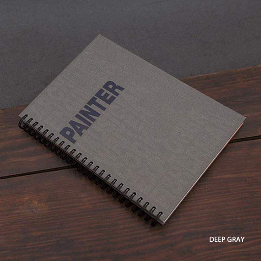 Deep gray - Painter spiral drawing notebook