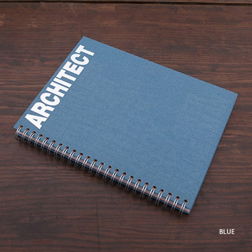 Blue - Architect spiral drawing notebook