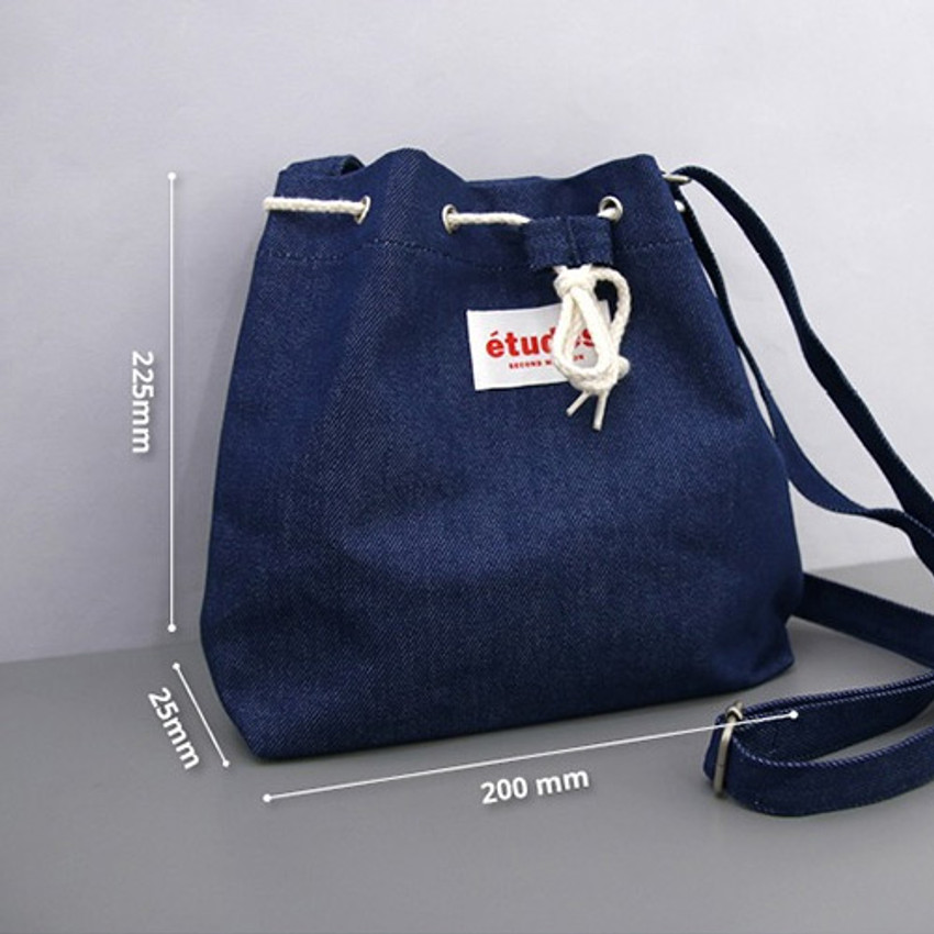 Size of Etude daily cotton bucket bag