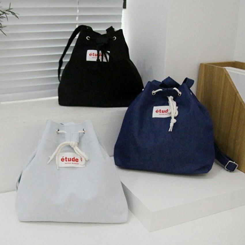 Etude daily cotton bucket bag