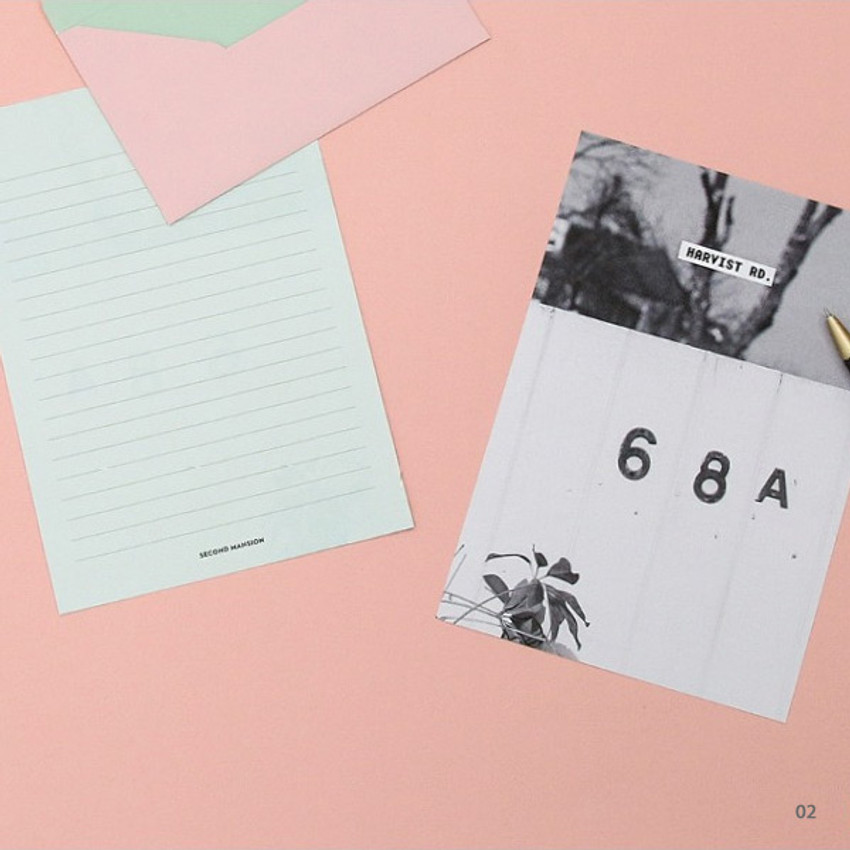02 - Moment illustration letter paper and envelope set