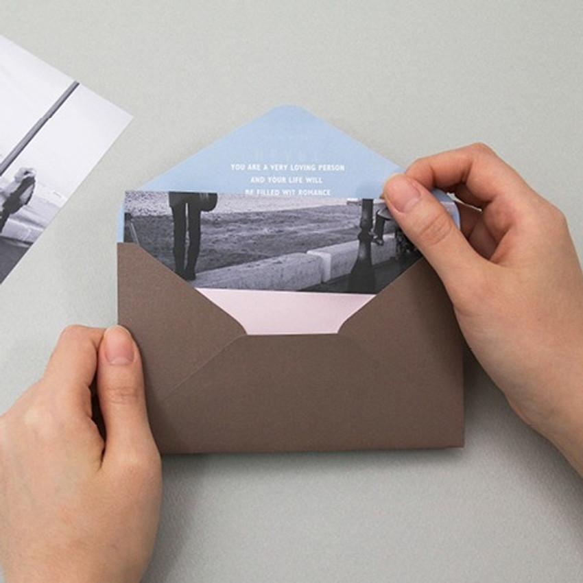 Envelope - Moment illustration letter paper and envelope set