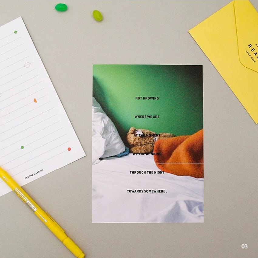 03 - Moment illustration letter paper and envelope set