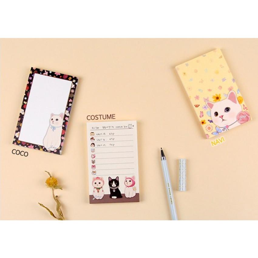 Co co & Costume & Navi - Jetoy Choo Choo cat memo notepad
