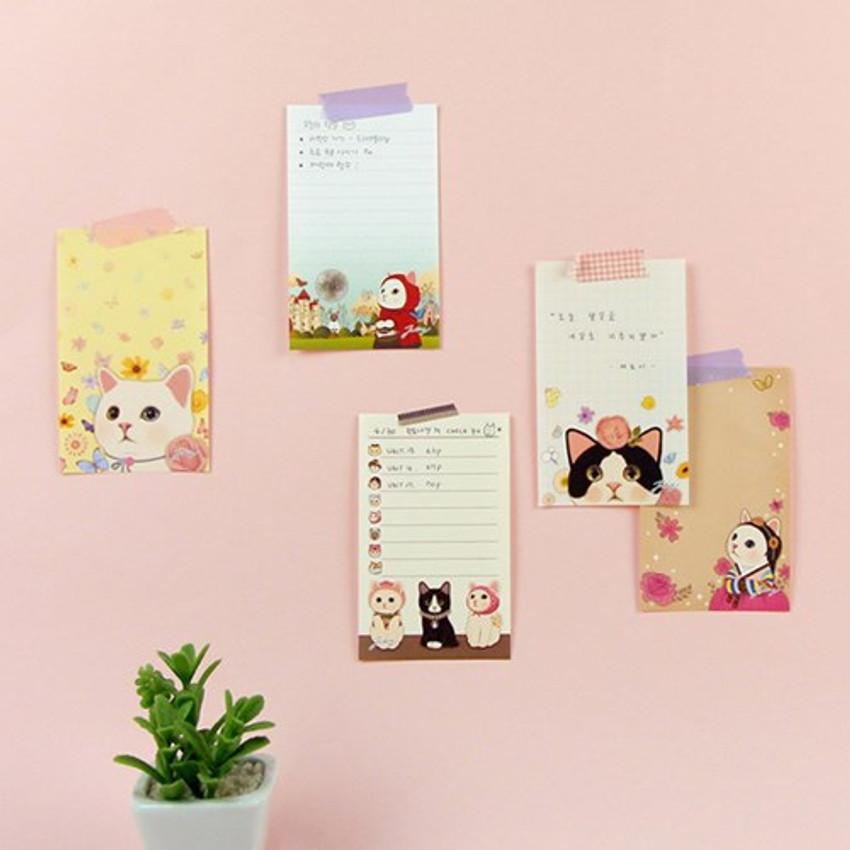 Jetoy Choo Choo cat memo notepad