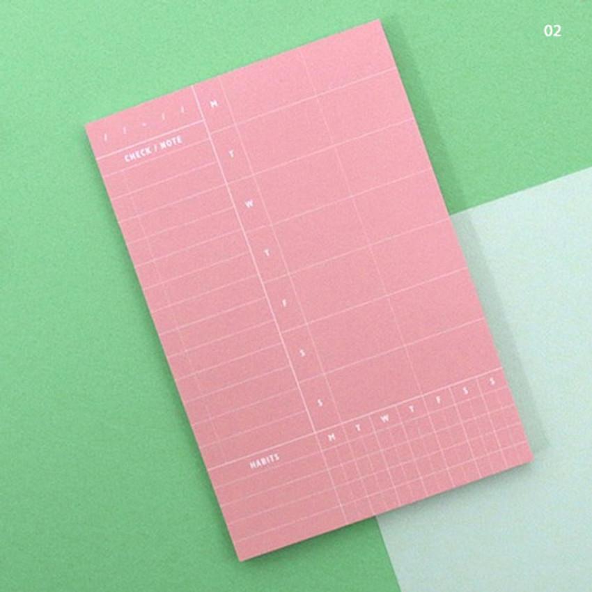 02 - Weekly plan memo notepad
