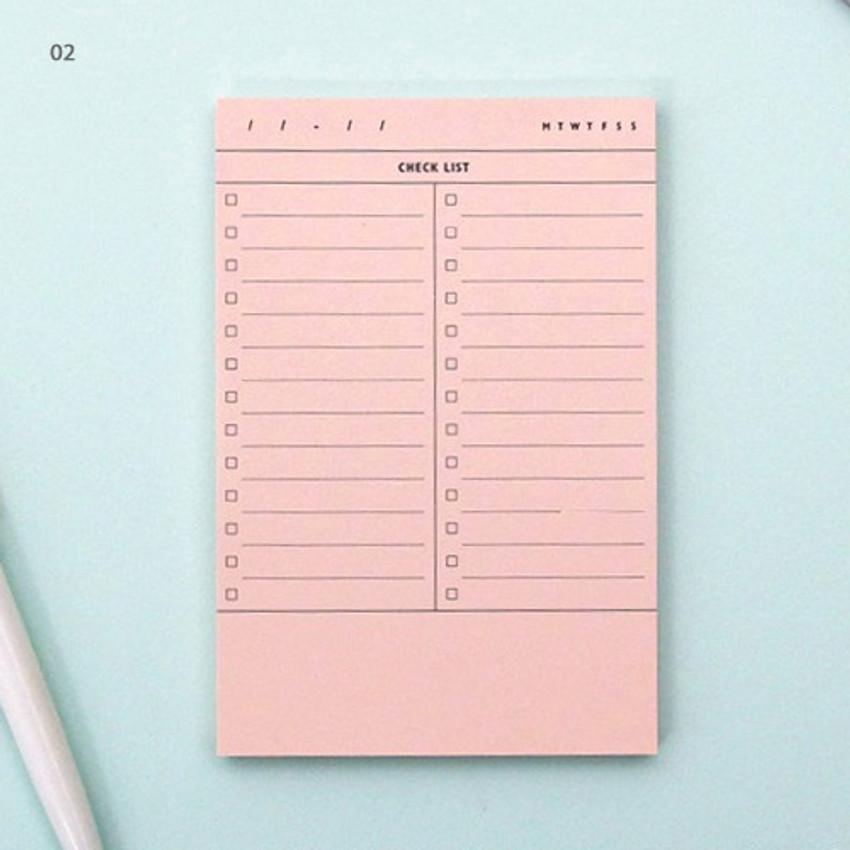 02 - Checklist plan memo notepad
