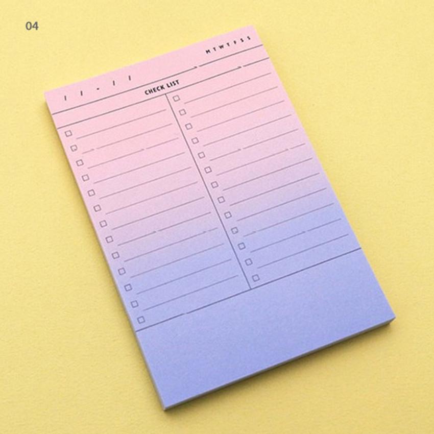 04 - Checklist plan memo notepad