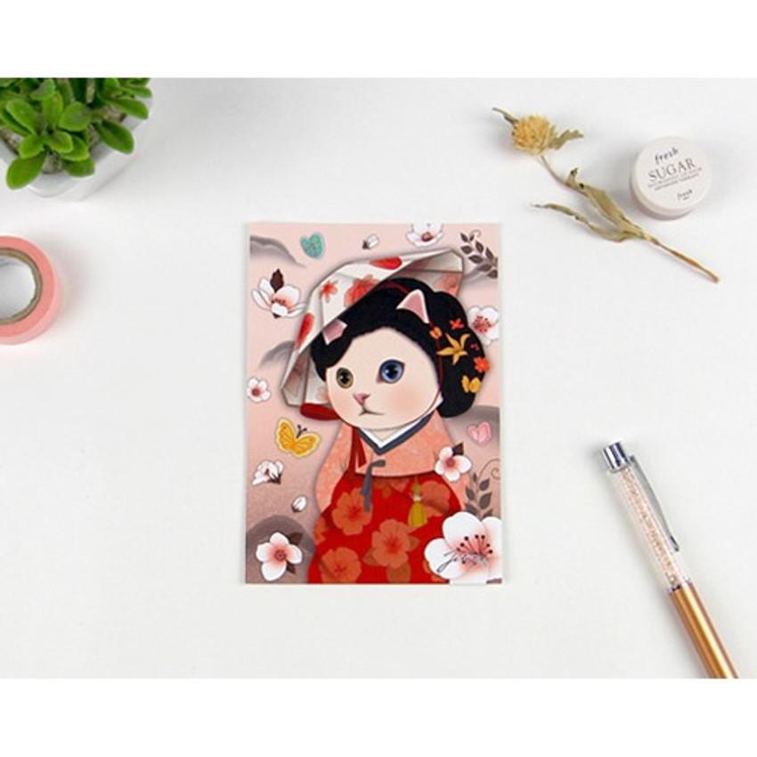 Myoeng wol - Jetoy Choo Choo cat post card