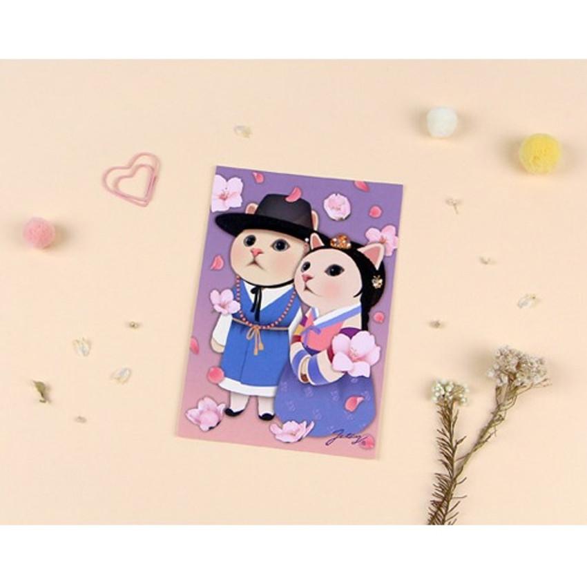Couple - Jetoy Choo Choo cat post card