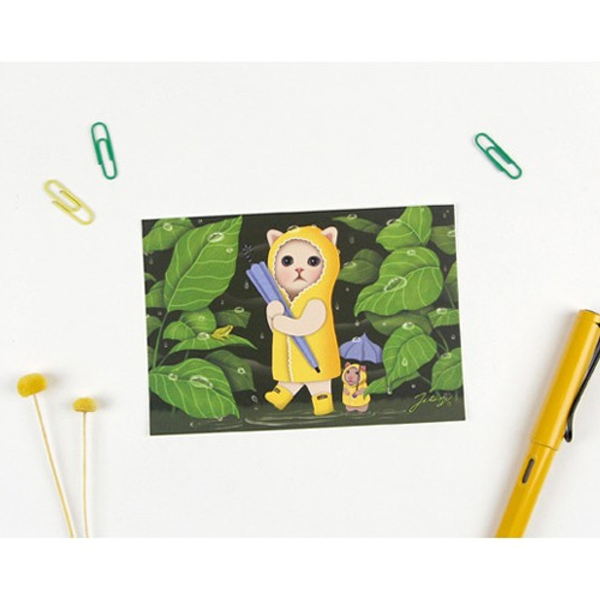 Oobi choo - Jetoy Choo Choo cat post card