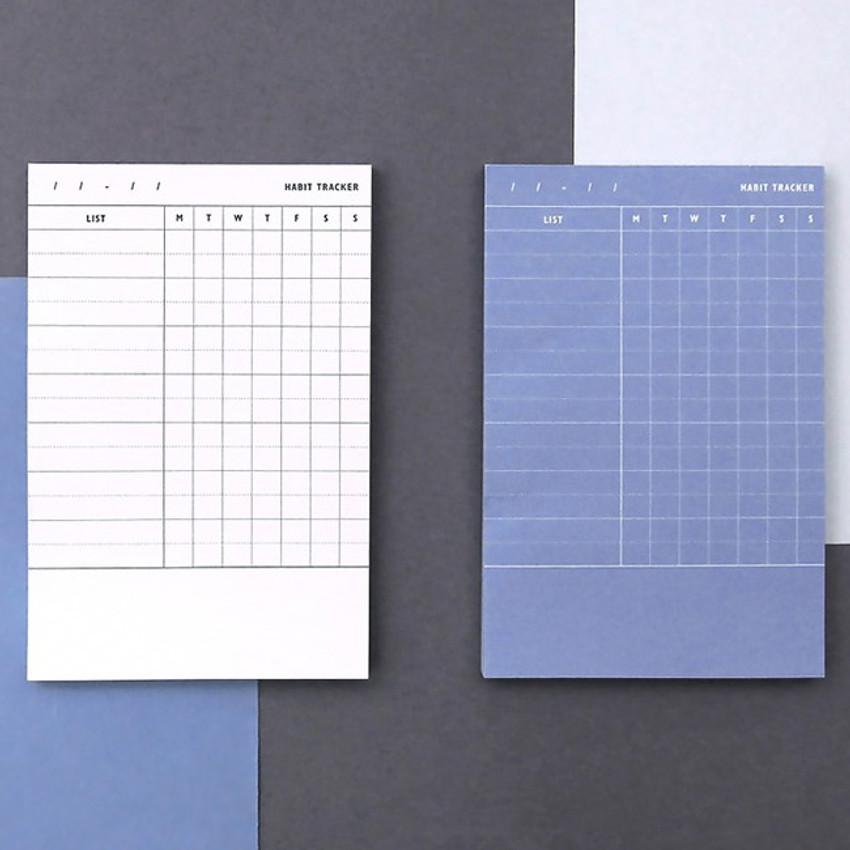 Habit tracker memo notepad