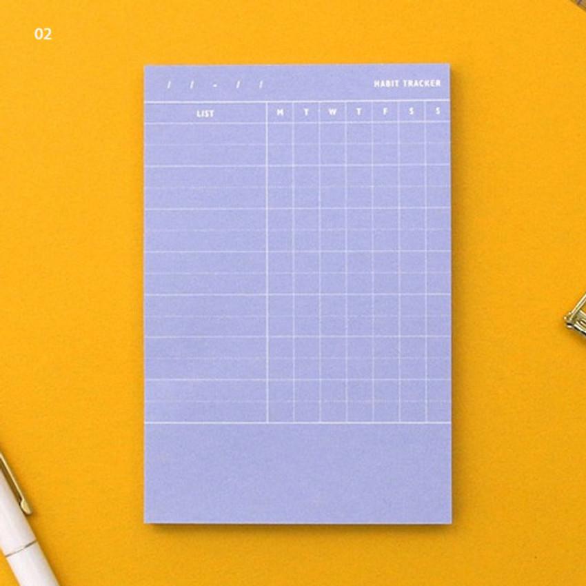 02 - Habit tracker memo notepad