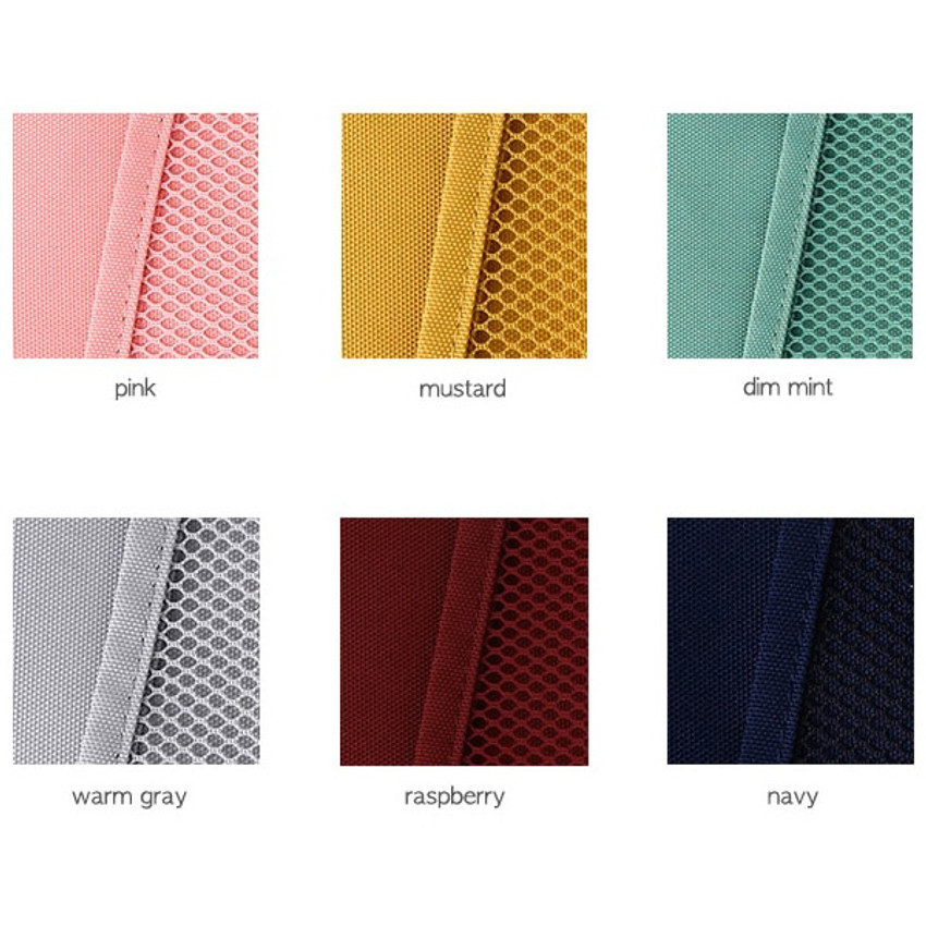 Color - Livework A low hill basic mesh pocket daily pouch