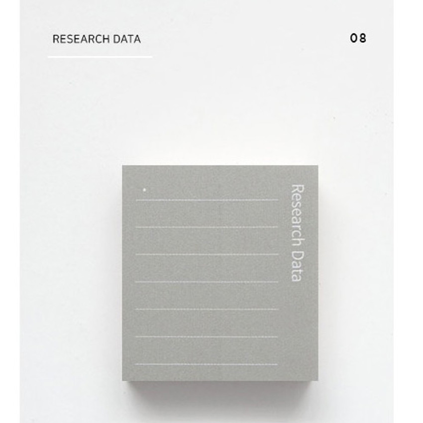 Research data - The memo index it small sticky notepad