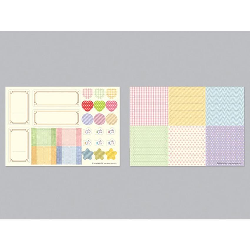 2 sticker sheets - Bookfriends Story 4X6 slip in pocket photo album