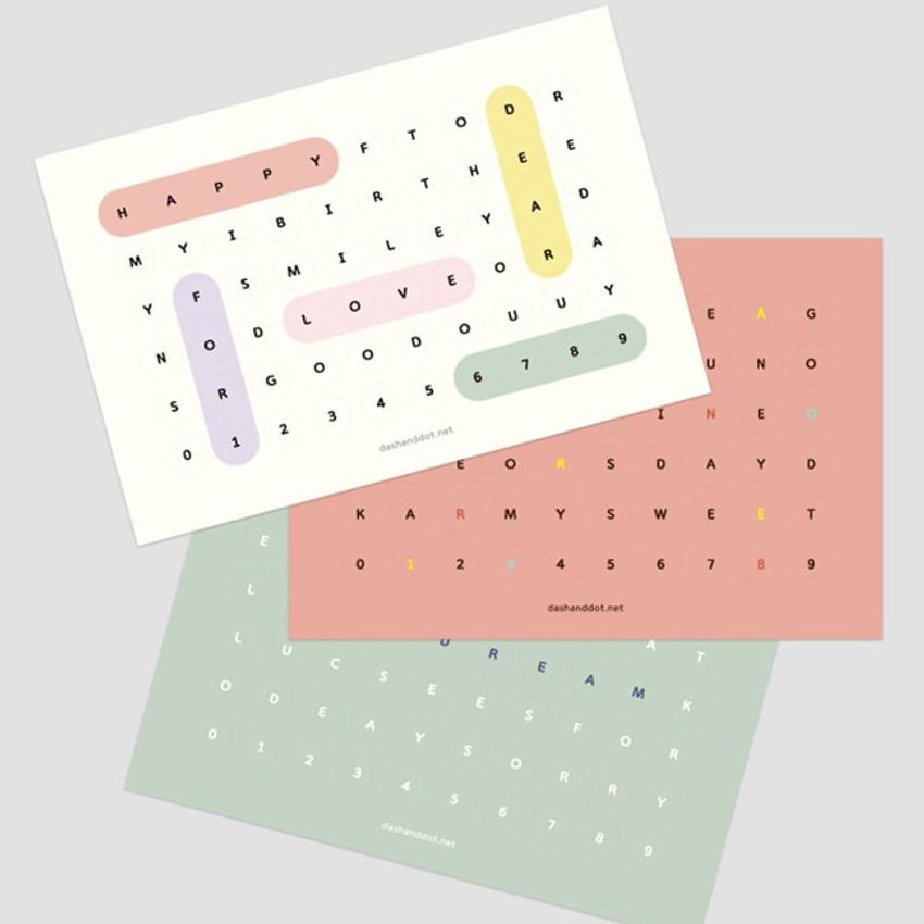 Bingo alphabet message sticker