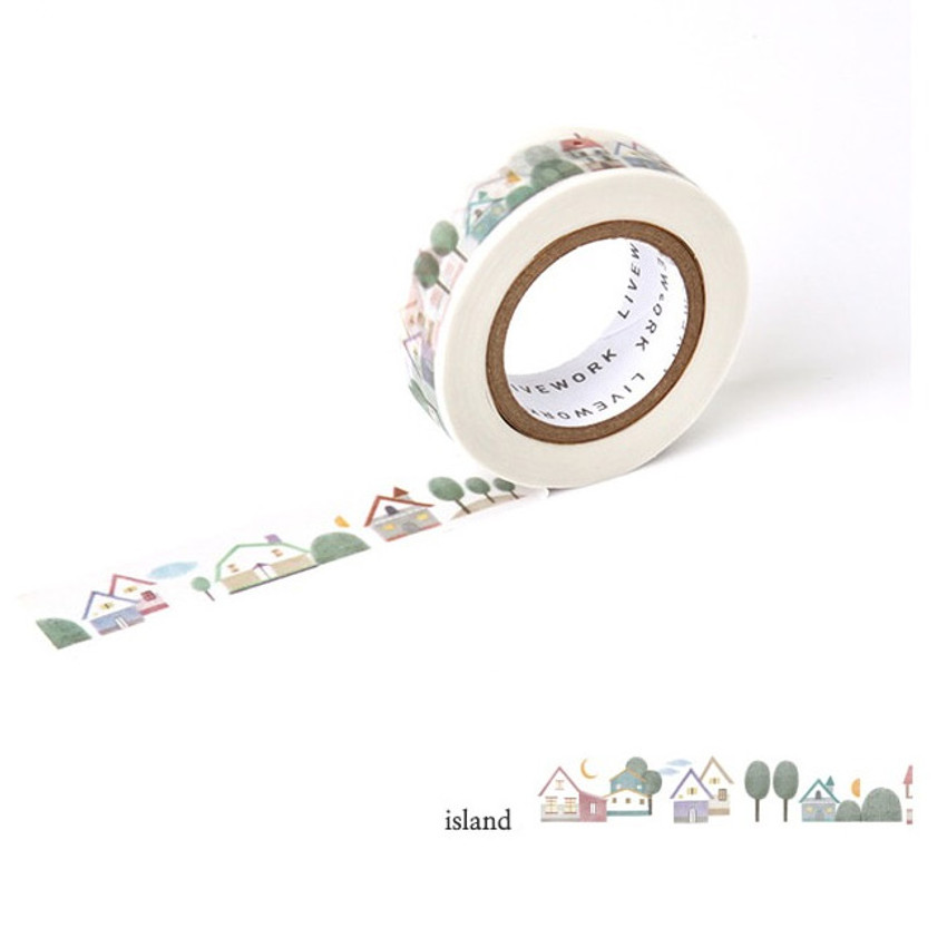 Island - Livework Proust pattern single deco masking tape