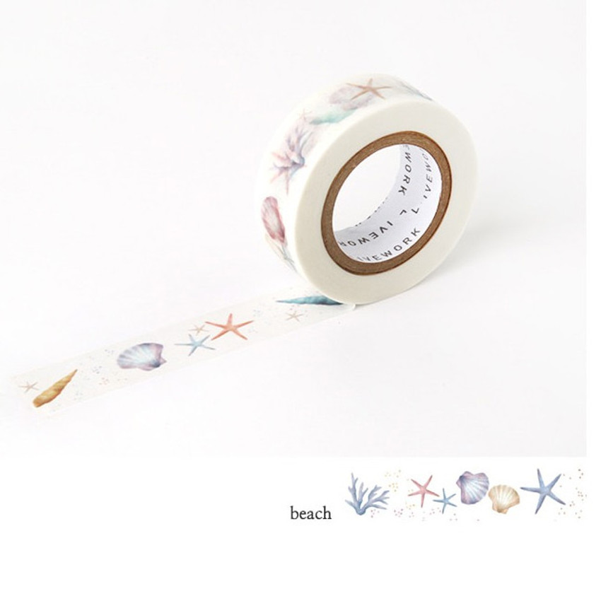 Beach - Livework Proust pattern single deco masking tape