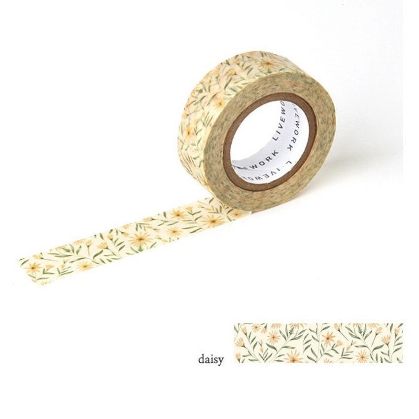 Daisy - Livework Proust pattern single deco masking tape