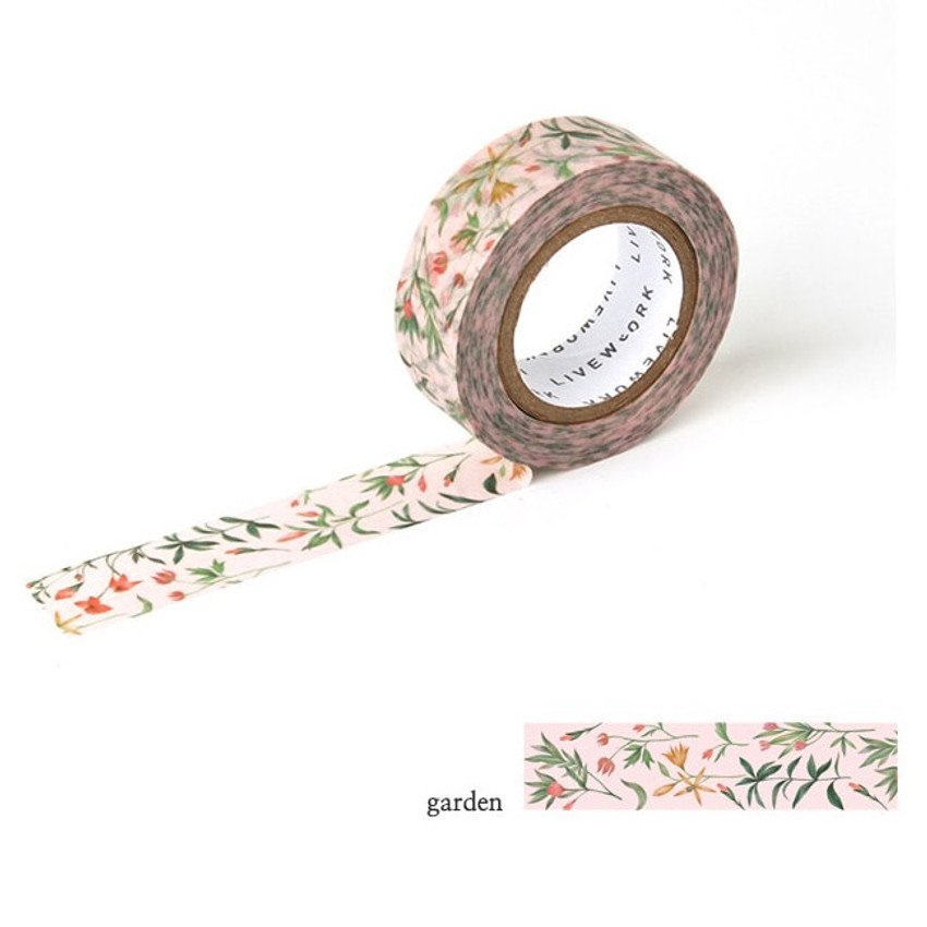 Garden - Livework Proust pattern single deco masking tape