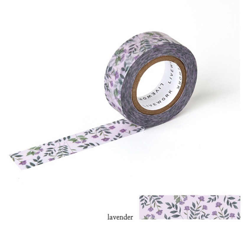 Lavender - Livework Proust pattern single deco masking tape