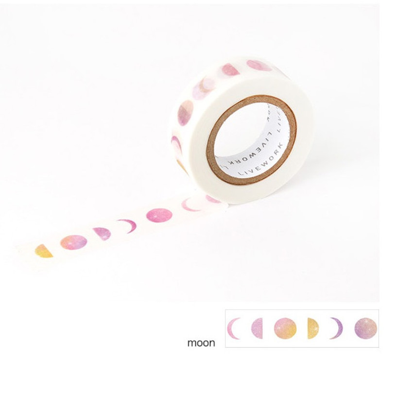 Moon - Livework My universe single deco masking tape