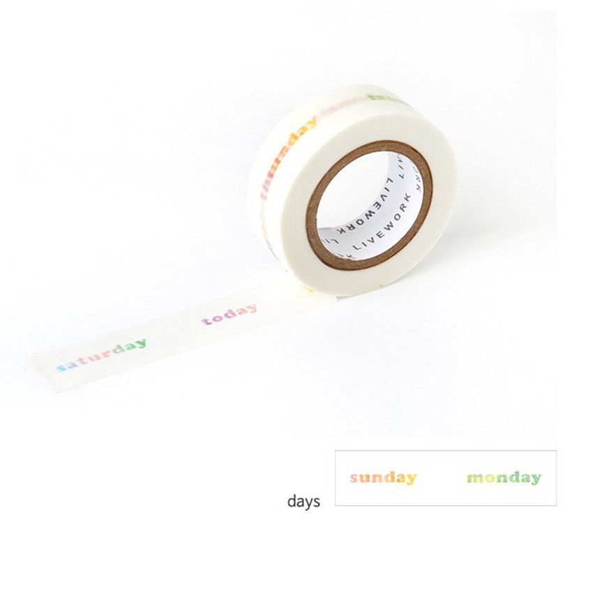 Days - Livework My universe single deco masking tape