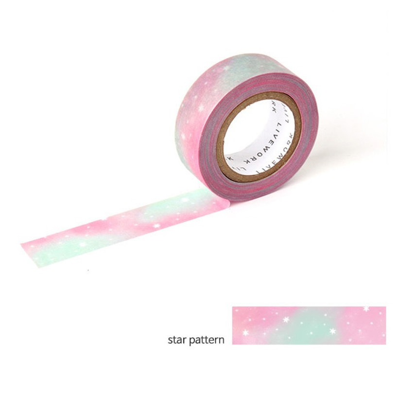 Star pattern - Livework My universe single deco masking tape