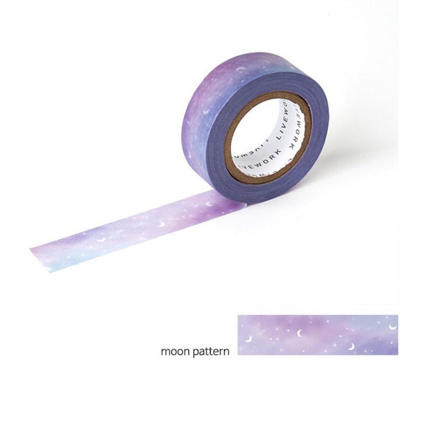 Moon pattern - Livework My universe single deco masking tape