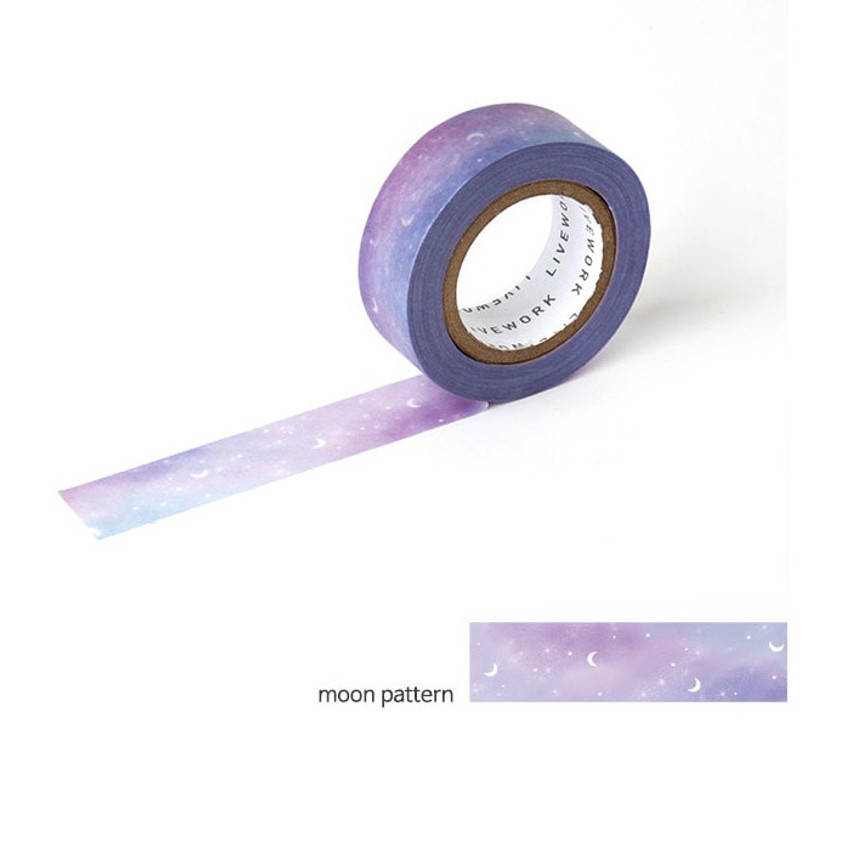 Moon pattern - Livework My universe single deco masking tape