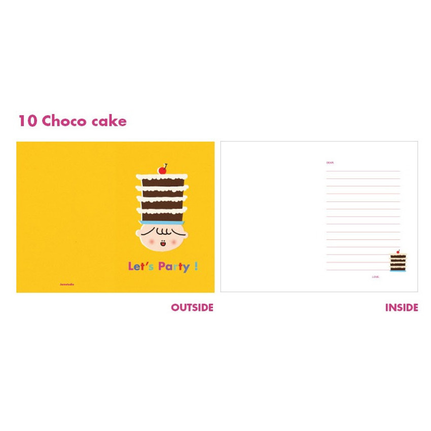 Choco cake - Jam studio Jam birthday card with envelope ver2