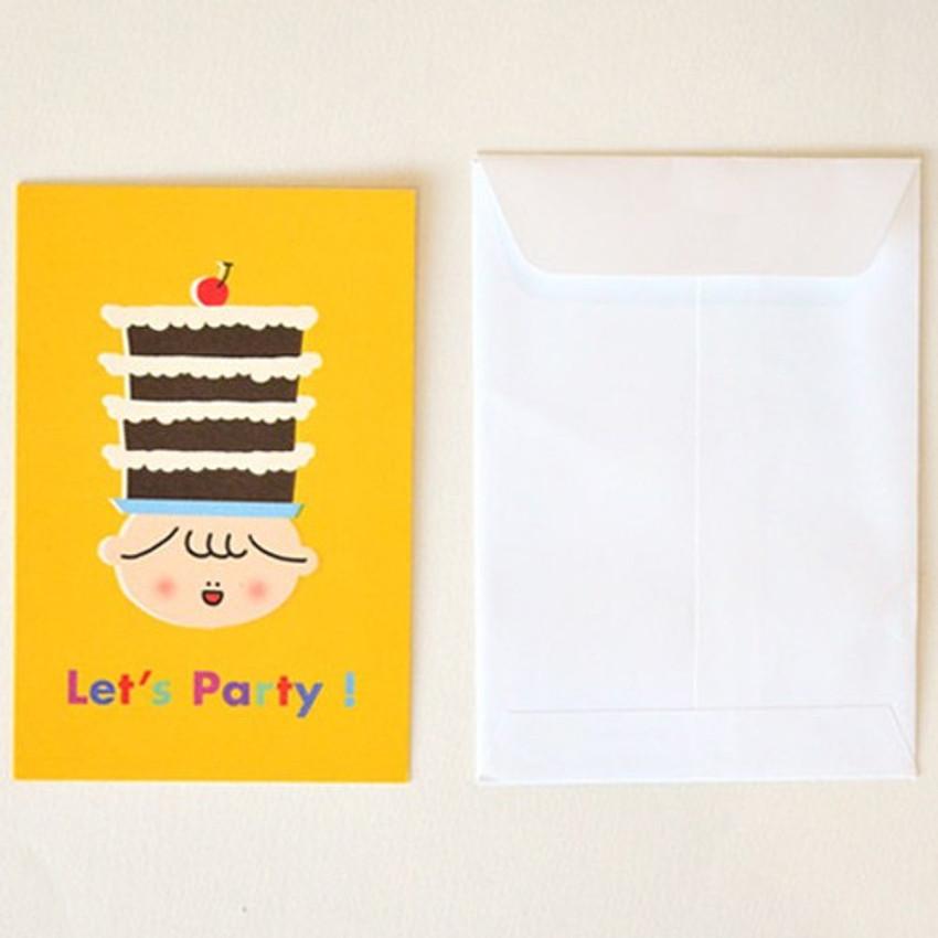 Composition - Jam studio Jam birthday card with envelope ver2