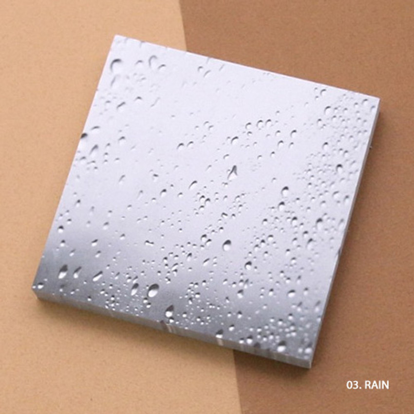 Rain - But today memo notepad