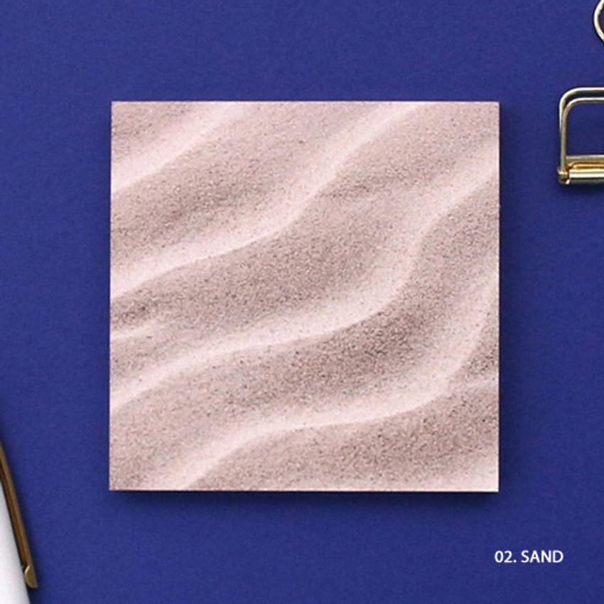 Sand - But today memo notepad