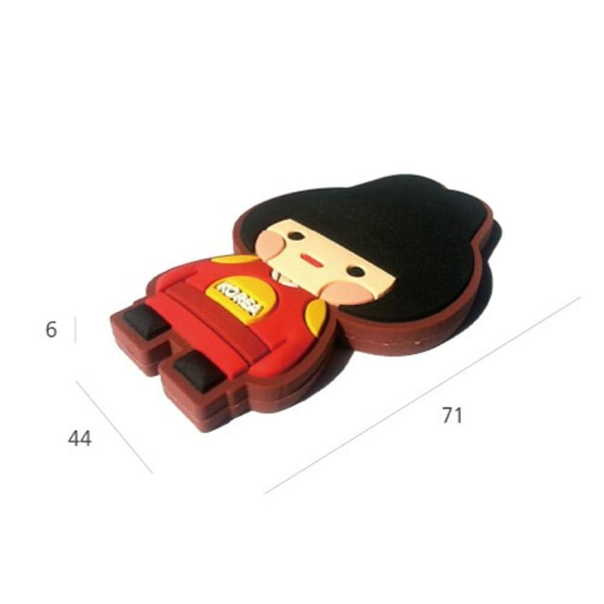 Size of Korean traditional family PVC magnet
