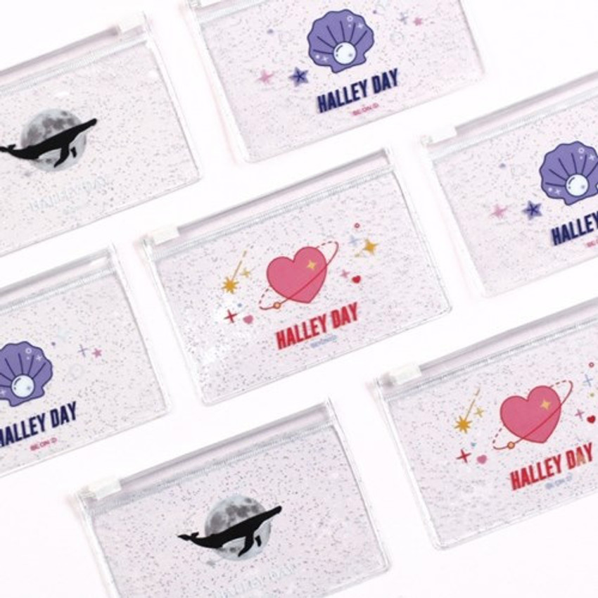 After The Rain Halley day clear zip lock small pouch