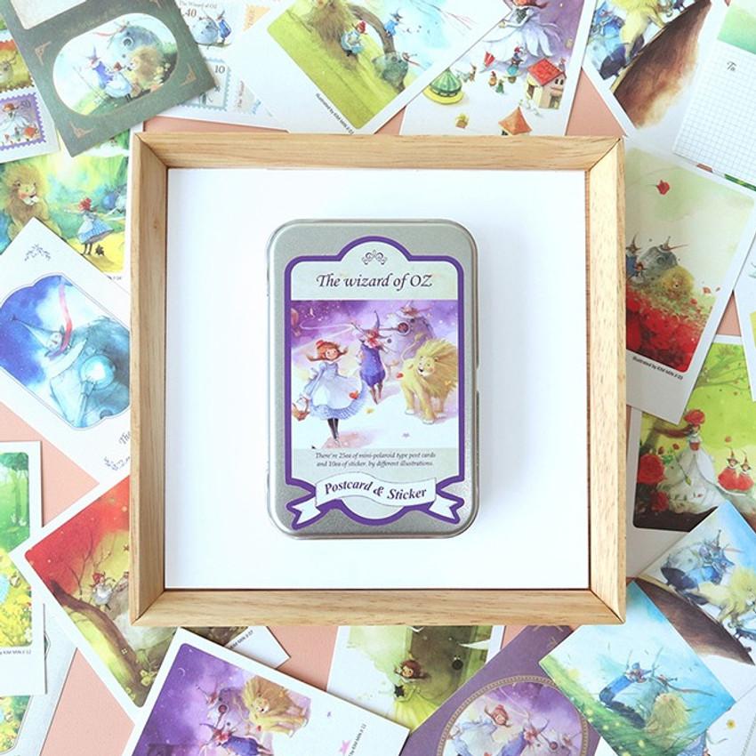 Indigo Classic fairy tale OZ small postcard with stickers