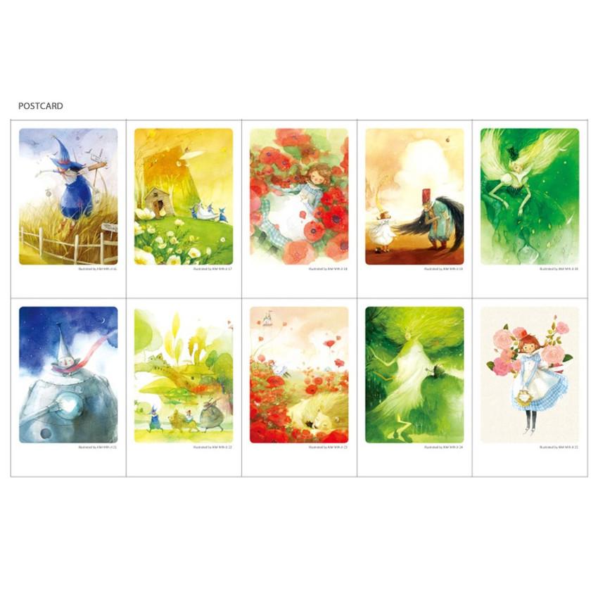 Postcard -  Indigo OZ small postcard with stickers