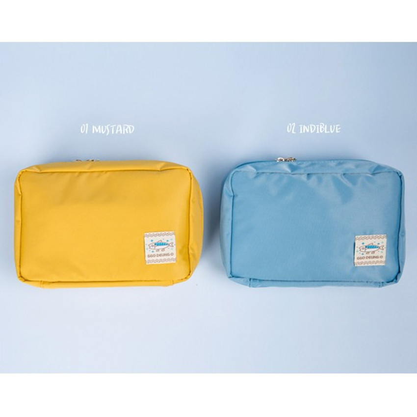 Colors of Ggo deung o beauty cosmetic makeup pouch