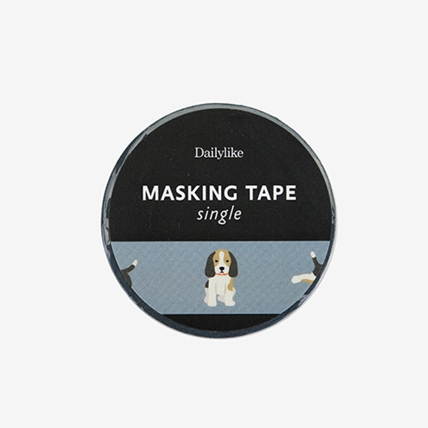 "Dailylike Deco 0.59""X11yd single masking tape - Beagle"