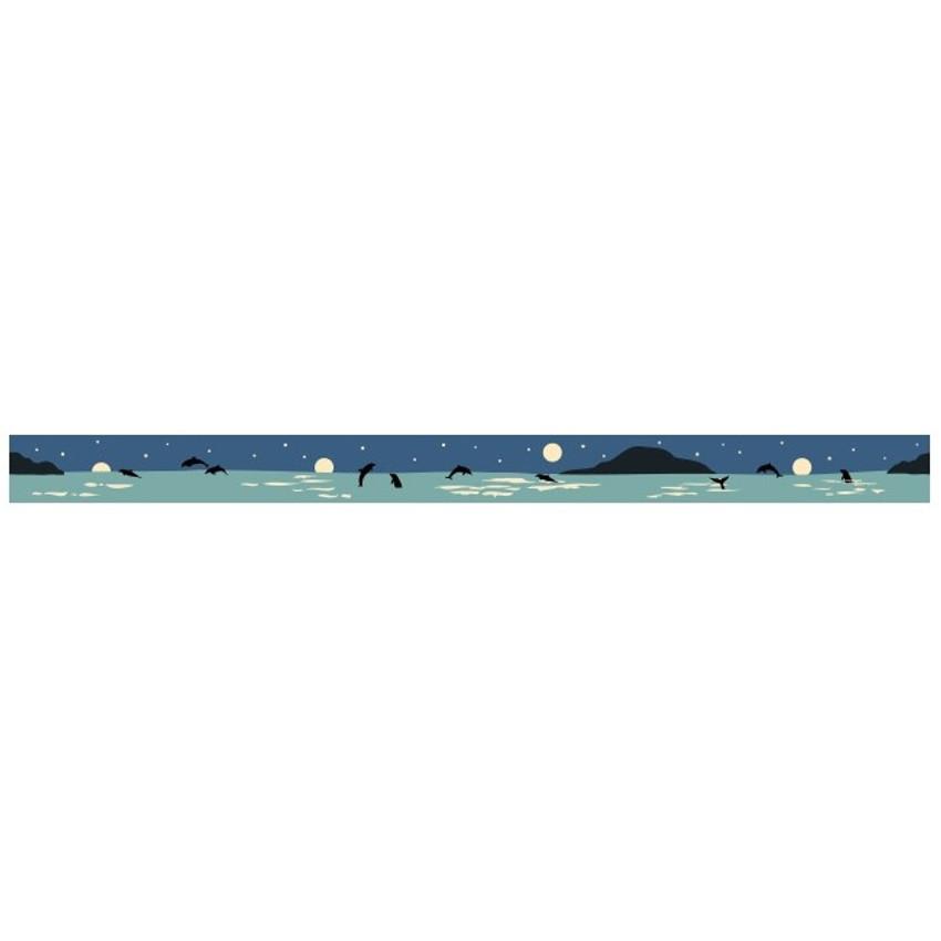 "Dailylike Deco 0.59""X11yd single masking tape - Night sea"