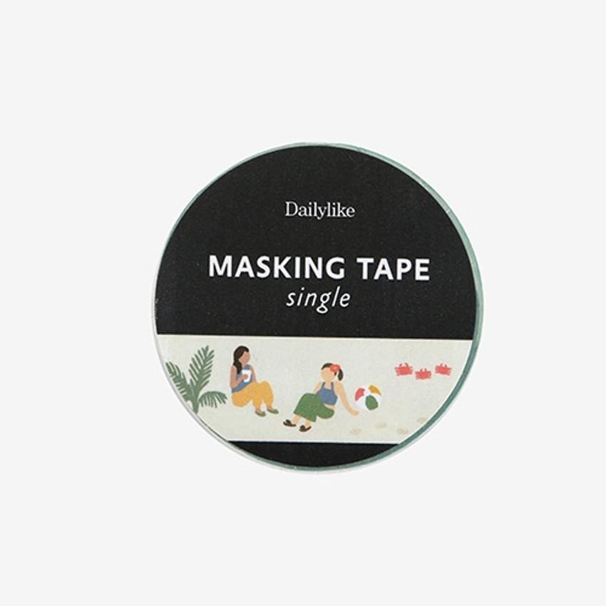 "Dailylike Deco 0.59""X11yd single masking tape - Vacation"