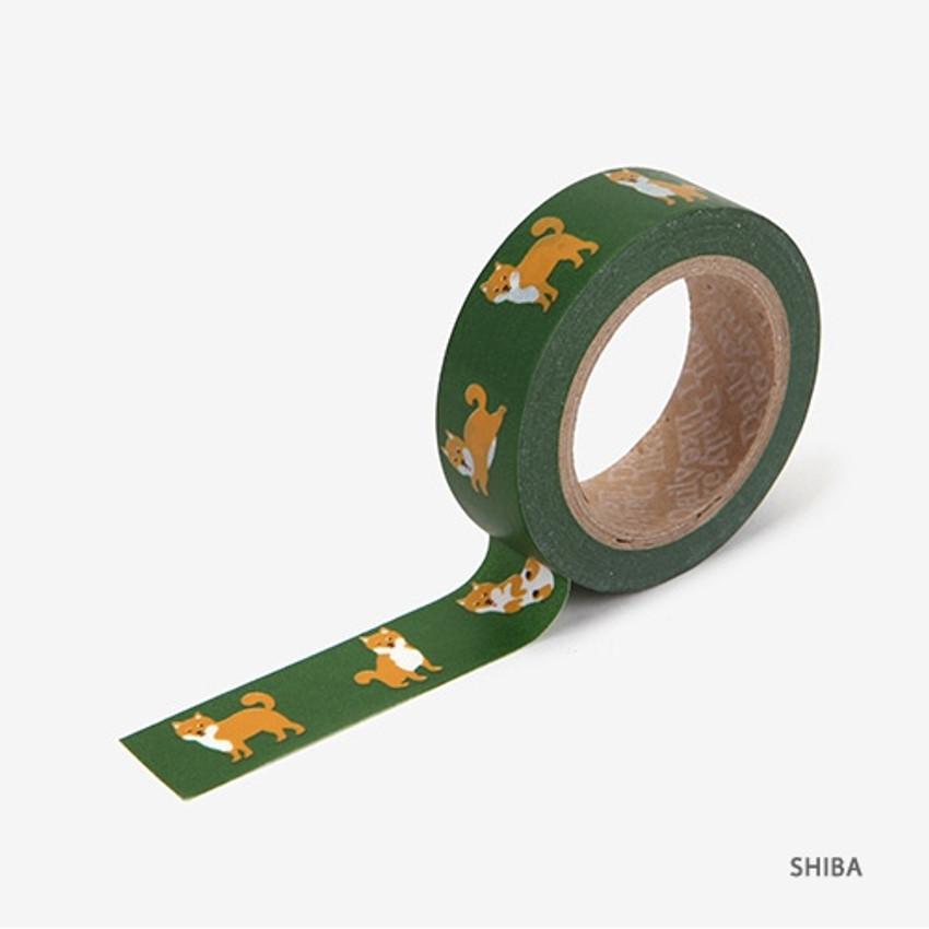 Shiba - Dailylike Animal 2 deco masking tape set of 4