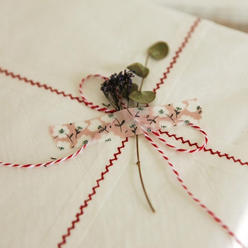Dailylike Flower deco masking tape set of 4