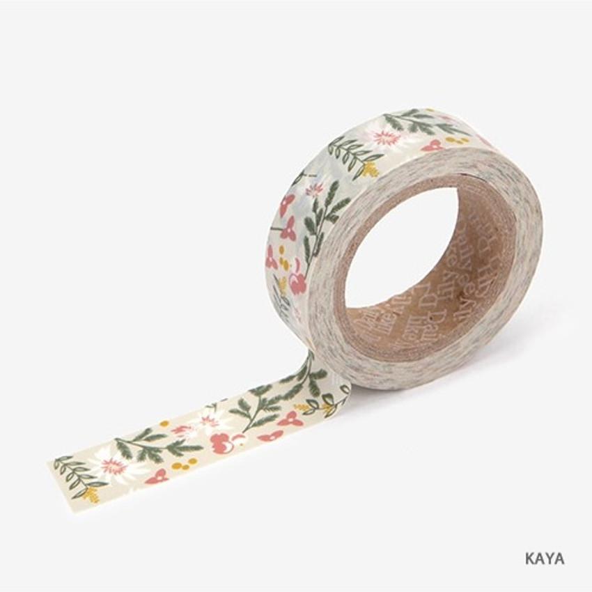 Kaya - Dailylike Flower deco masking tape set of 4